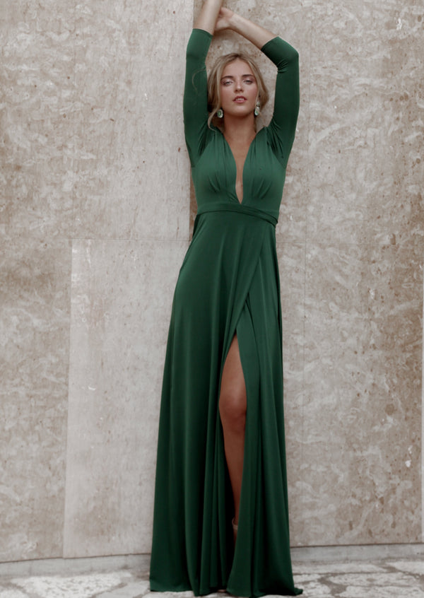 GREEN ALEXANDRIA DRESS