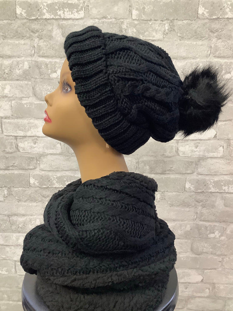 Beverly Combs Hat & Scarf Set