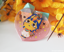 Load image into Gallery viewer, Heart Charm Animal Crossing Ankha