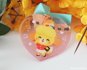Heart Charm Animal Crossing Isabelle