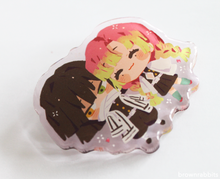 Load image into Gallery viewer, Candy Glaze Obanai x Mitsuri Acrylic Pin