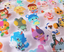 Load image into Gallery viewer, Acrylic Pin Animal Crossing Snake