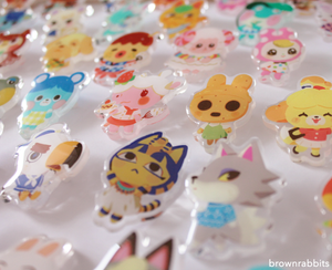 Acrylic Pin Animal Crossing Sherb