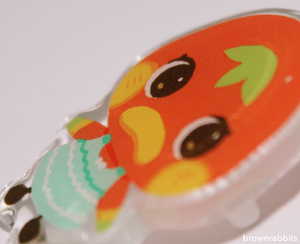 Acrylic Pin Animal Crossing Poppy