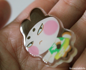 Acrylic Pin Animal Crossing Lucky