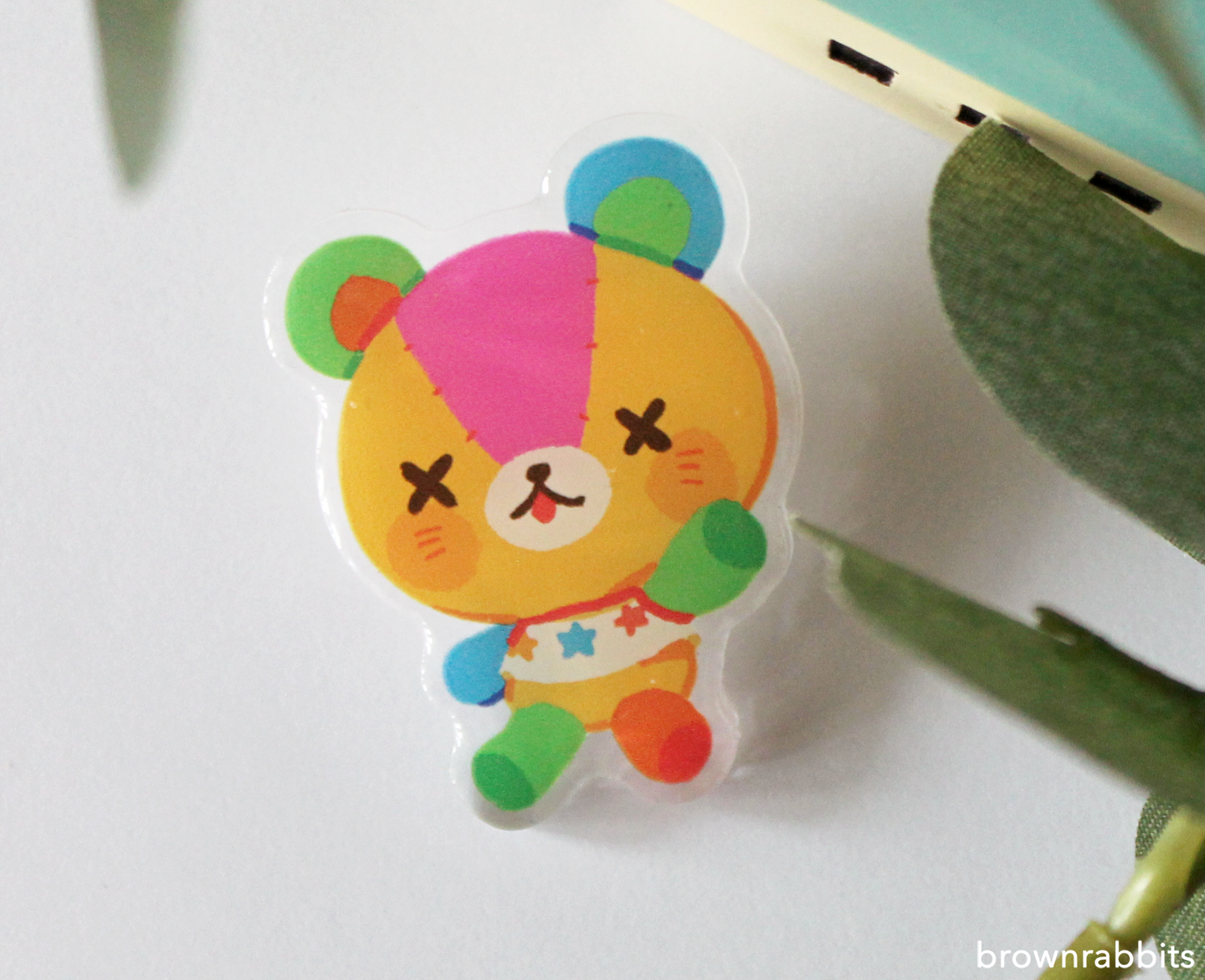 Acrylic Pin Animal Crossing Stitches