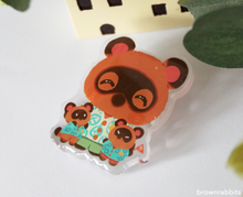 Load image into Gallery viewer, Acrylic Pin Animal Crossing Tom Nook