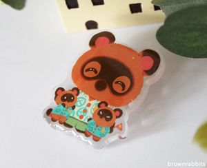 Acrylic Pin Animal Crossing Tom Nook