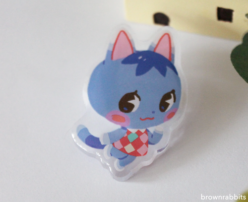 Acrylic Pin Animal Crossing Rosie