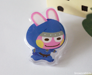 Acrylic Pin Animal Crossing Snake