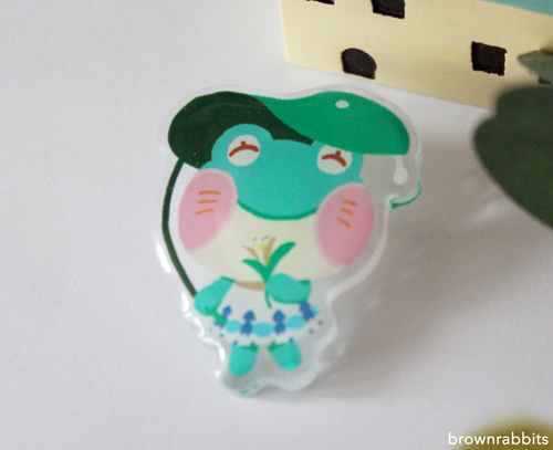 Acrylic Pin Animal Crossing Lily
