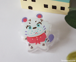 Acrylic Pin Animal Crossing Bianca