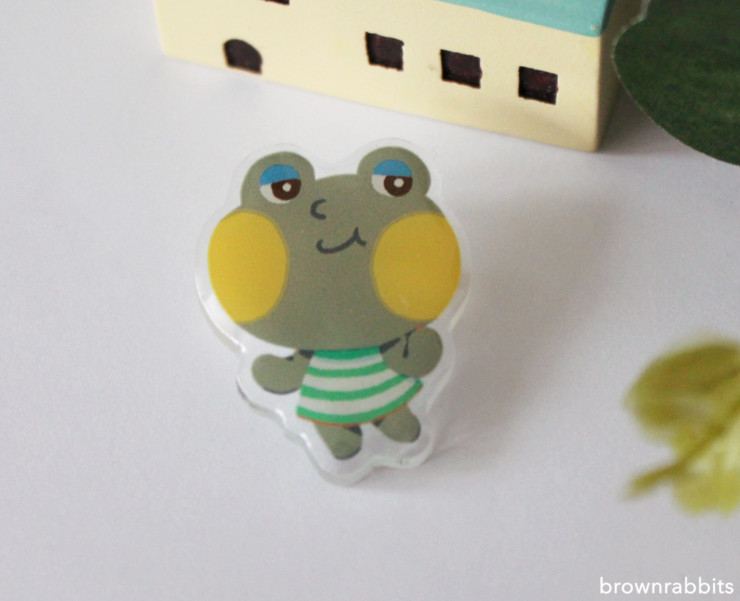 Acrylic Pin Animal Crossing Huck