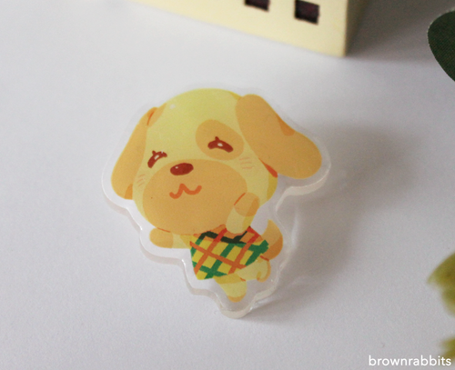 Acrylic Pin Animal Crossing Goldie