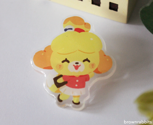 Acrylic Pin Animal Crossing Isabelle
