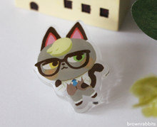 Load image into Gallery viewer, Acrylic Pin Animal Crossing Raymond