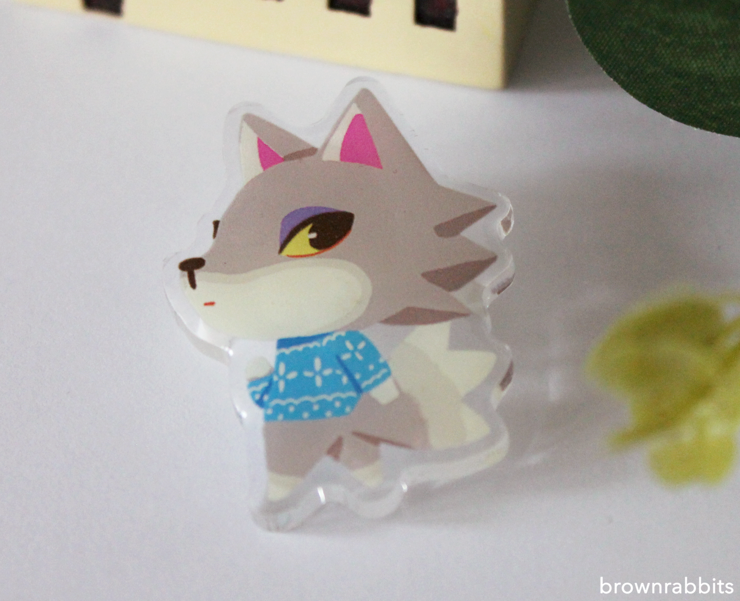 Acrylic Pin Animal Crossing Fang