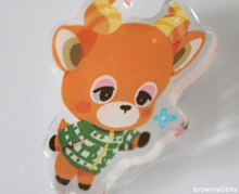 Load image into Gallery viewer, Acrylic Pin Animal Crossing Beau