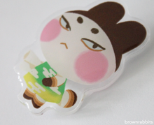 Load image into Gallery viewer, Acrylic Pin Animal Crossing Genji