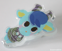 Load image into Gallery viewer, Acrylic Pin Animal Crossing Sherb