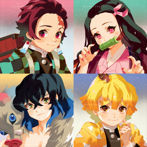Kimetsu No Yaiba Mini Prints