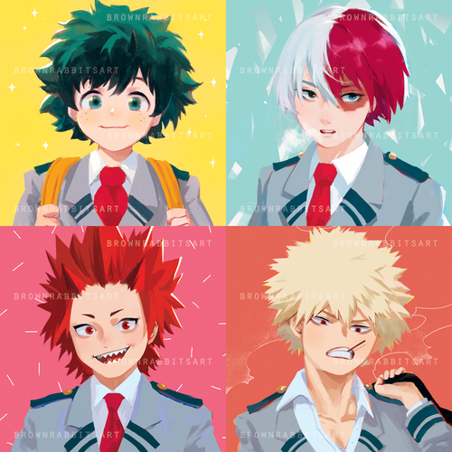 Boku No Hero Mini Prints