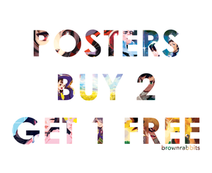 Poster Deal Buy 3 for $40