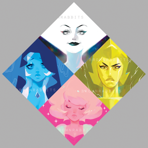 Diamonds Steven Universe Mini Prints