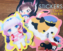 Load image into Gallery viewer, Vinyl Stickers - Dva, Kanna, Conductor