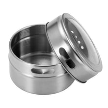 Load image into Gallery viewer, Magnetic Stainless Steel Spice Jar
