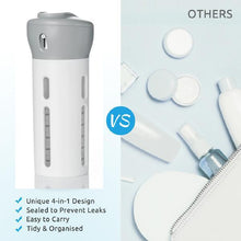 Load image into Gallery viewer, 4-in-1 Lotion Shampoo Gel Outdoor/Camping Dispenser