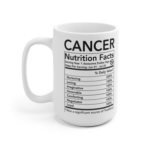 Zodiac Coffee Mug Gift, Horoscope Cancer 11 oz or 15 oz. - Coffee Chronicles