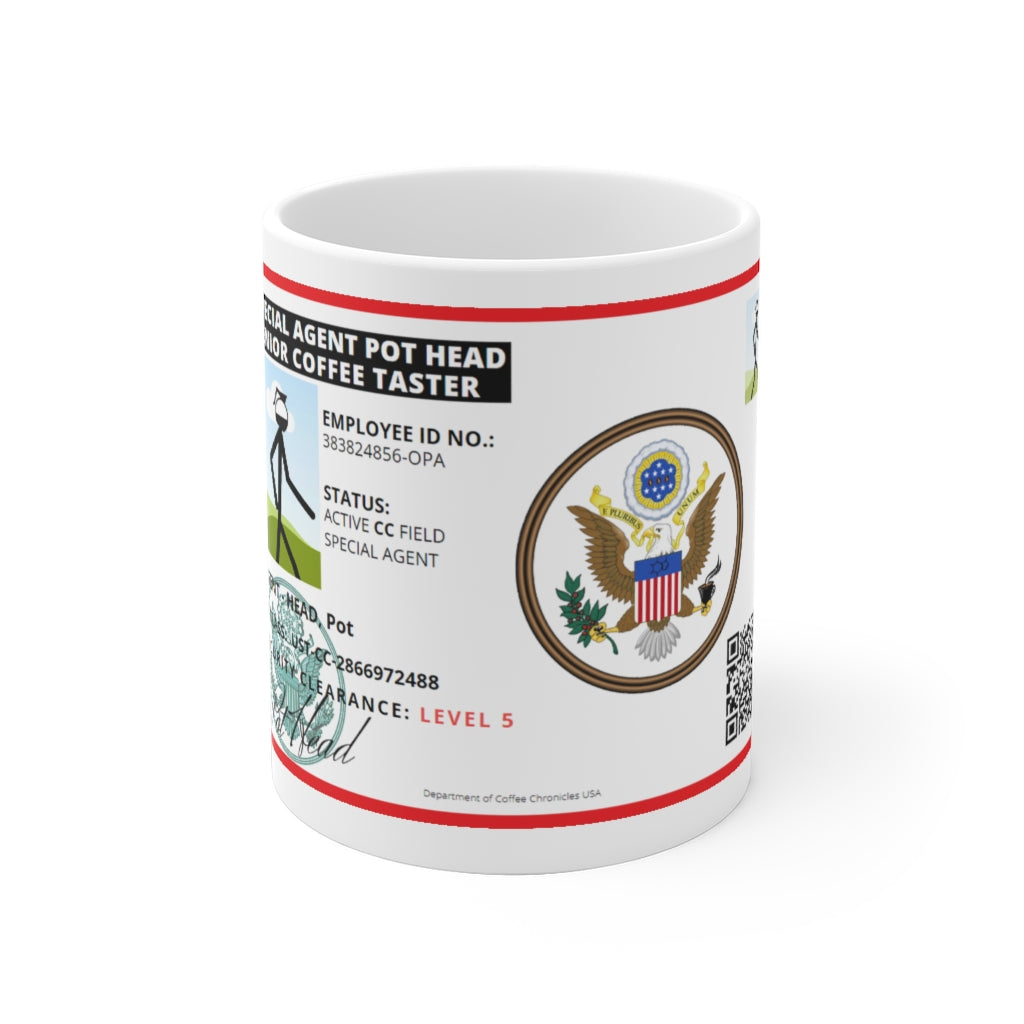 Special Agent Pot Head Mugs 11 oz / 15 oz - Coffee Chronicles