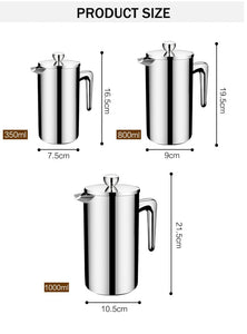 New Style Stainless Steel French Press Coffee Percolators - Coffee Chronicles