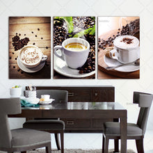 Load image into Gallery viewer, 3 Panels Canvas Paintings Wall Art. Coffee on canvas (no frame) - Coffee Chronicles