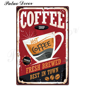 Vintage Metal Sign Retro Metal Posters Iron Painting - Coffee Chronicles
