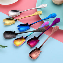 Load image into Gallery viewer, Cartoon Pig Shaped Children's Spoon or Spork 7 Colors - Coffee Chronicles