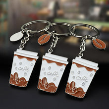 Load image into Gallery viewer, Coffee Mug Metal Key Ring (1 Piece) - Coffee Chronicles