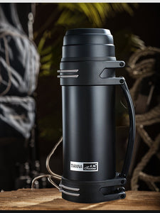 Stainless Steel Travel Thermos - Coffee Chronicles