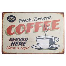 Load image into Gallery viewer, Assorted Vintage Metal Tin COFFEE Signs Home Art Decor Fast Delivery - Coffee Chronicles