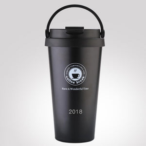 500m/17oz Stainless Steel Insulated Travel  Mug - Coffee Chronicles