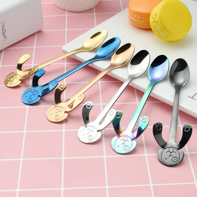 6pc Long Handle Lovely Dog Spoon Set - Coffee Chronicles