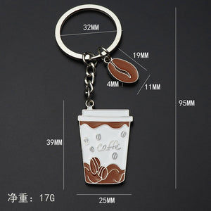 Coffee Mug Metal Key Ring (1 Piece) - Coffee Chronicles