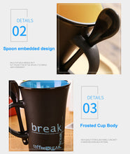 "Load image into Gallery viewer, Ceramic Cup with Spoon  ""Coffee Break"" - Coffee Chronicles"