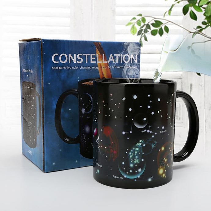 12 oz Twelve Constellations Heat-sensitive Color Changing Mug - Coffee Chronicles