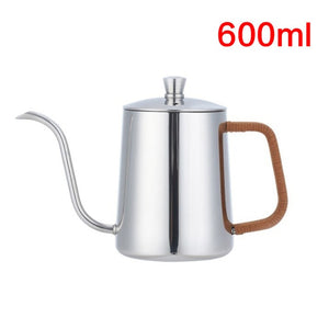 350ml or 600ml Gooseneck Drip Kettle Swan Neck Thin Neck - Coffee Chronicles