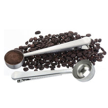 Load image into Gallery viewer, Two-in-one Stainless Steel Coffee Spoon With Bag Clip Sealing - Coffee Chronicles