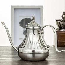 Load image into Gallery viewer, Antique Design Drip Kettle Gooseneck Coffee Kettle 600ml Silver or Bronze - Coffee Chronicles