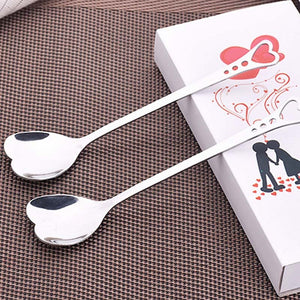 10Pcs Stainless Steel Heart Shape Coffee Spoon - Coffee Chronicles