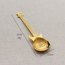 Load image into Gallery viewer, 1pcs,  Beautiful 7 Colors Stainless Steel Guitar Shaped Coffee Spoon - Coffee Chronicles